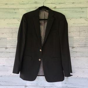 Men's Calvin Klein Suit Jacket Blazer Black Size 38 NWT